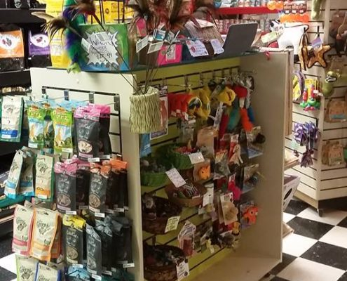 Selection of high quality cat toys and treats